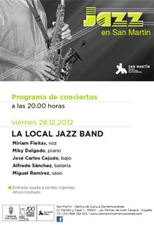La Local Jazz Band pone el broche final por este año al amplio programa musical de San Martín